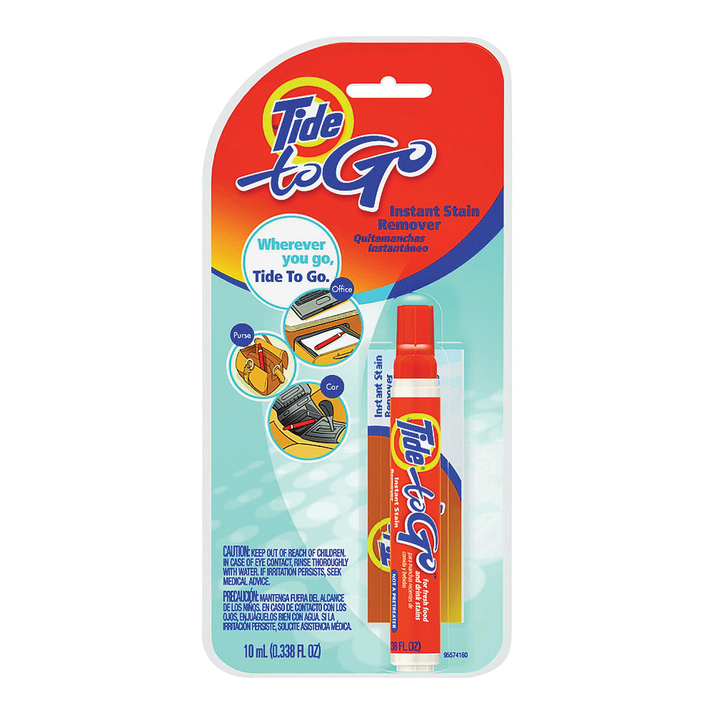 Picture of Tide To Go KIT Stain Remover Pen, 0.3 oz Package, Carded, Clear