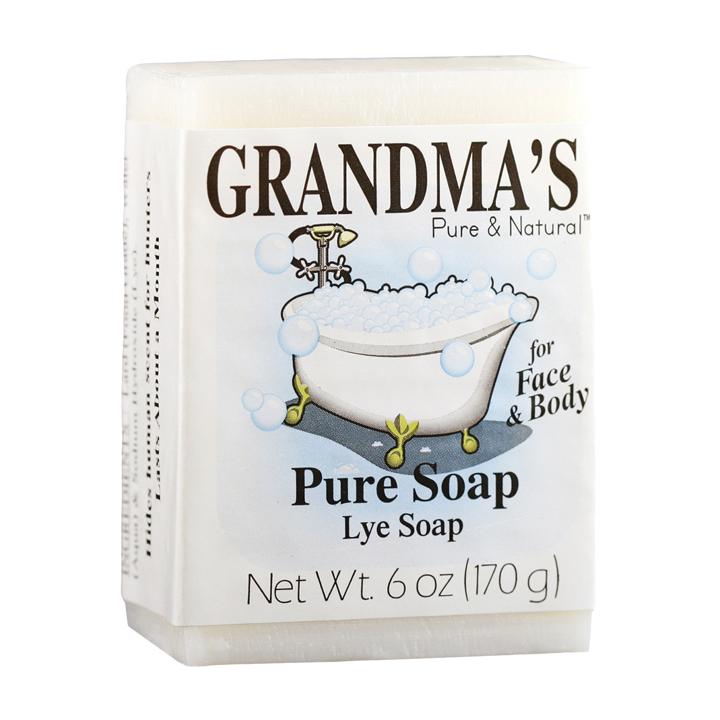 Picture of GRANDMA'S 60018 Pure and Natural Bar Soap White, White, 6 oz Package