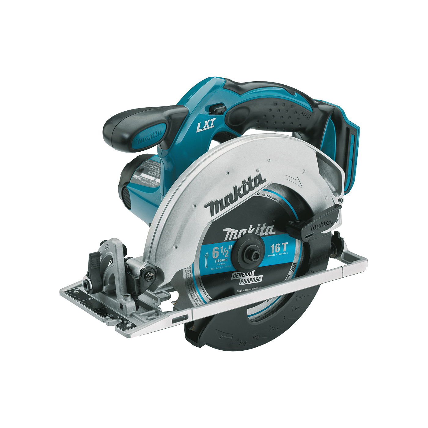 Picture of Makita LXT XSS02Z Circular Saw, Bare Tool, 18 V Battery, 3 Ah, 6-1/2 in Dia Blade, 3700 rpm Speed