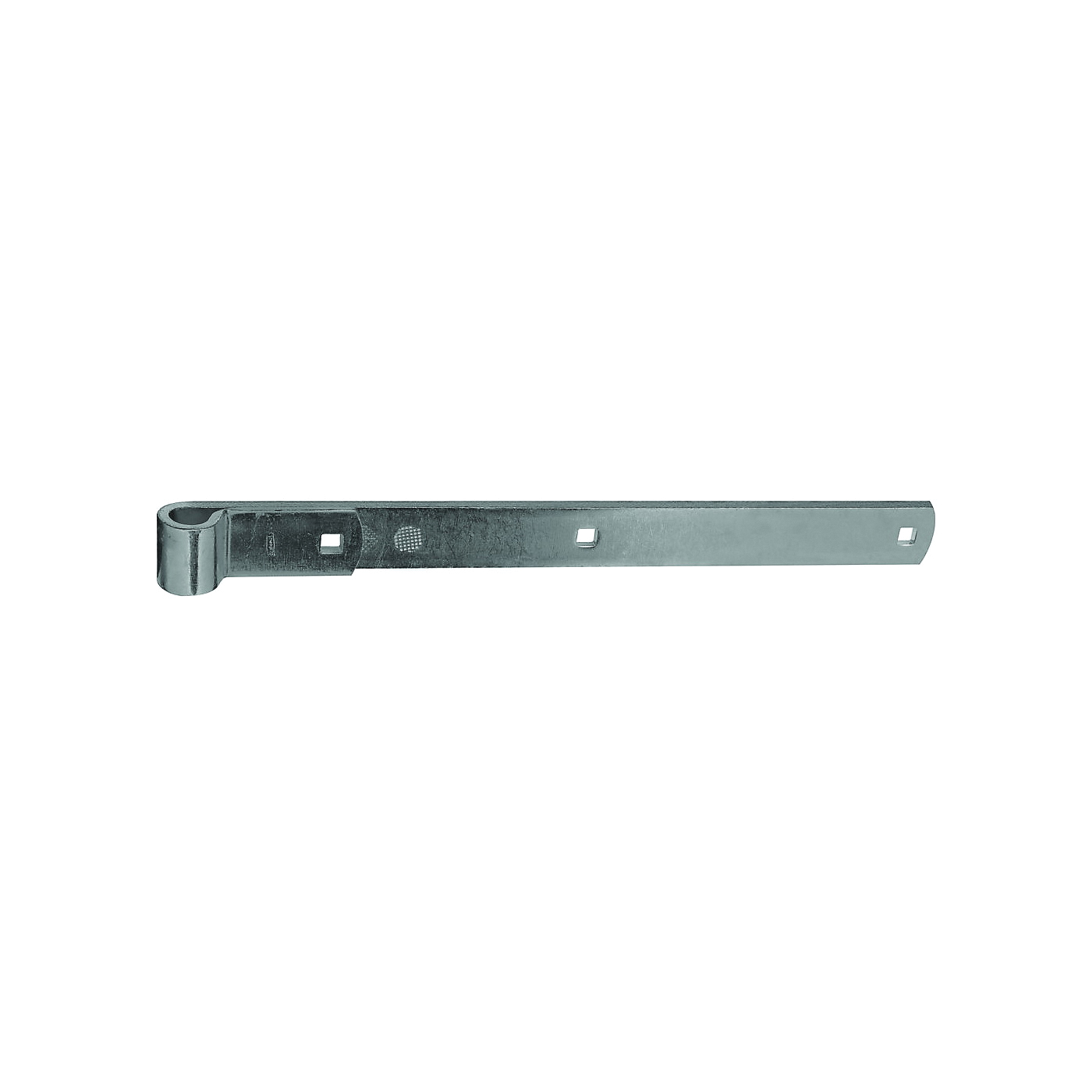 Picture of National Hardware 168336 Strap Hinge, 1/4 in Thick Leaf, Steel, Zinc, 200 lb