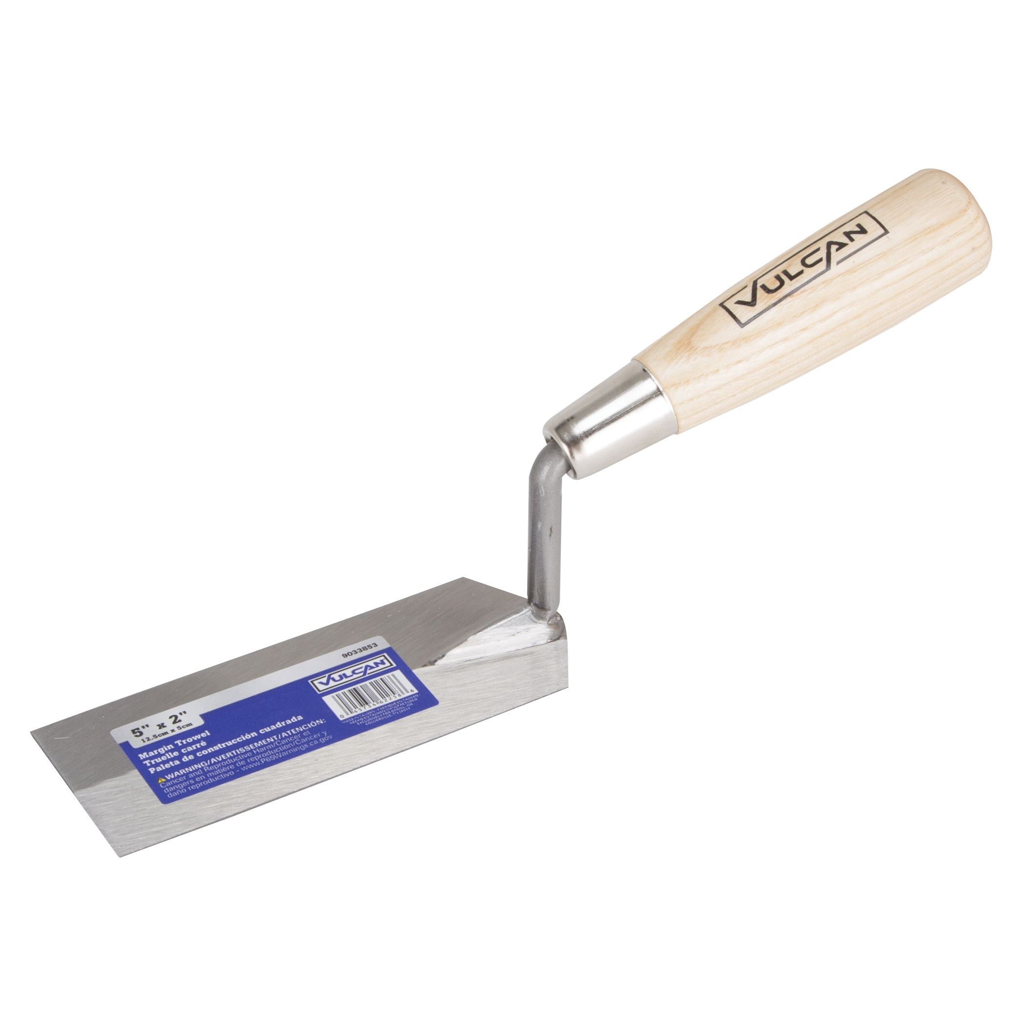 Picture of Vulcan 16405 Margin Trowel, 5 in L Blade, 2 in W Blade, Carbon Steel Blade, Plastic Handle