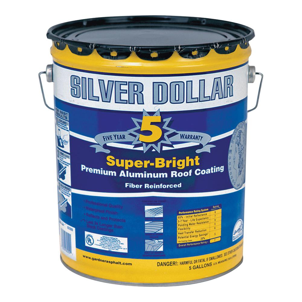 Picture of Gardner 6225-GA Aluminum Roof Coating, Silver, 18 L, Pail, Liquid