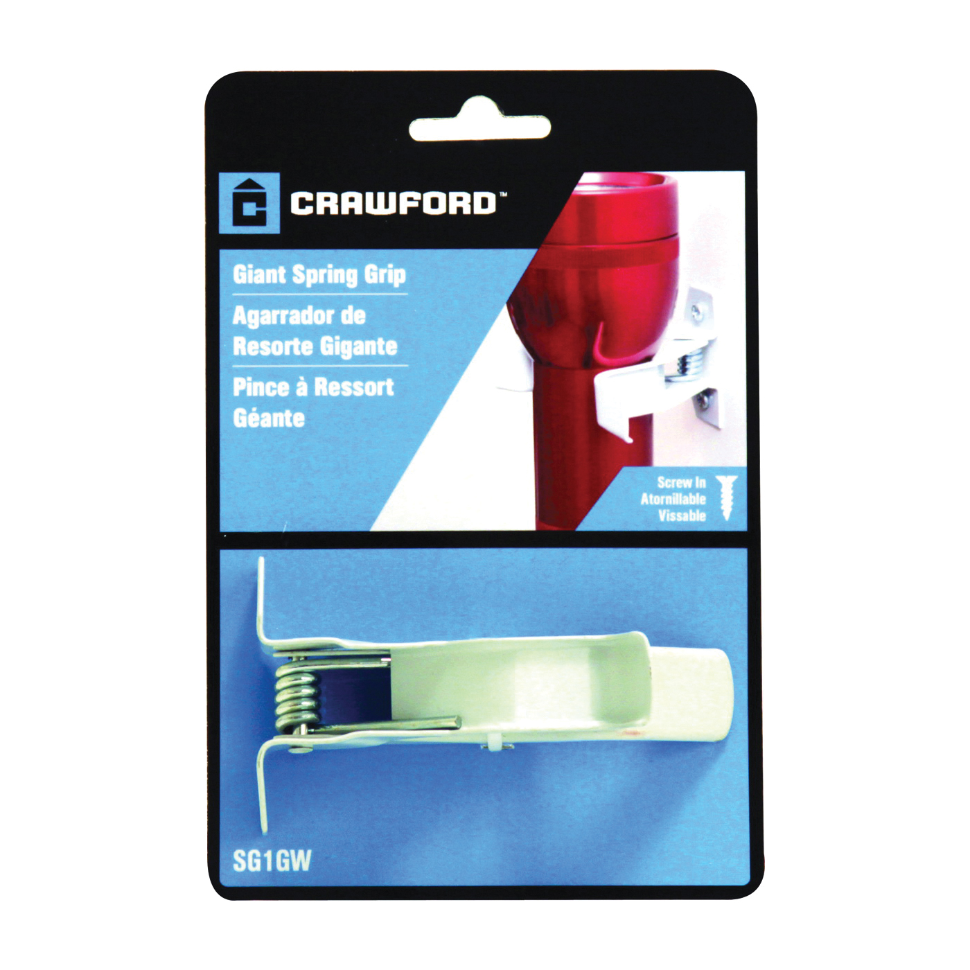 Picture of CRAWFORD SG1GW Spring Grip Clip, Giant, Steel, White