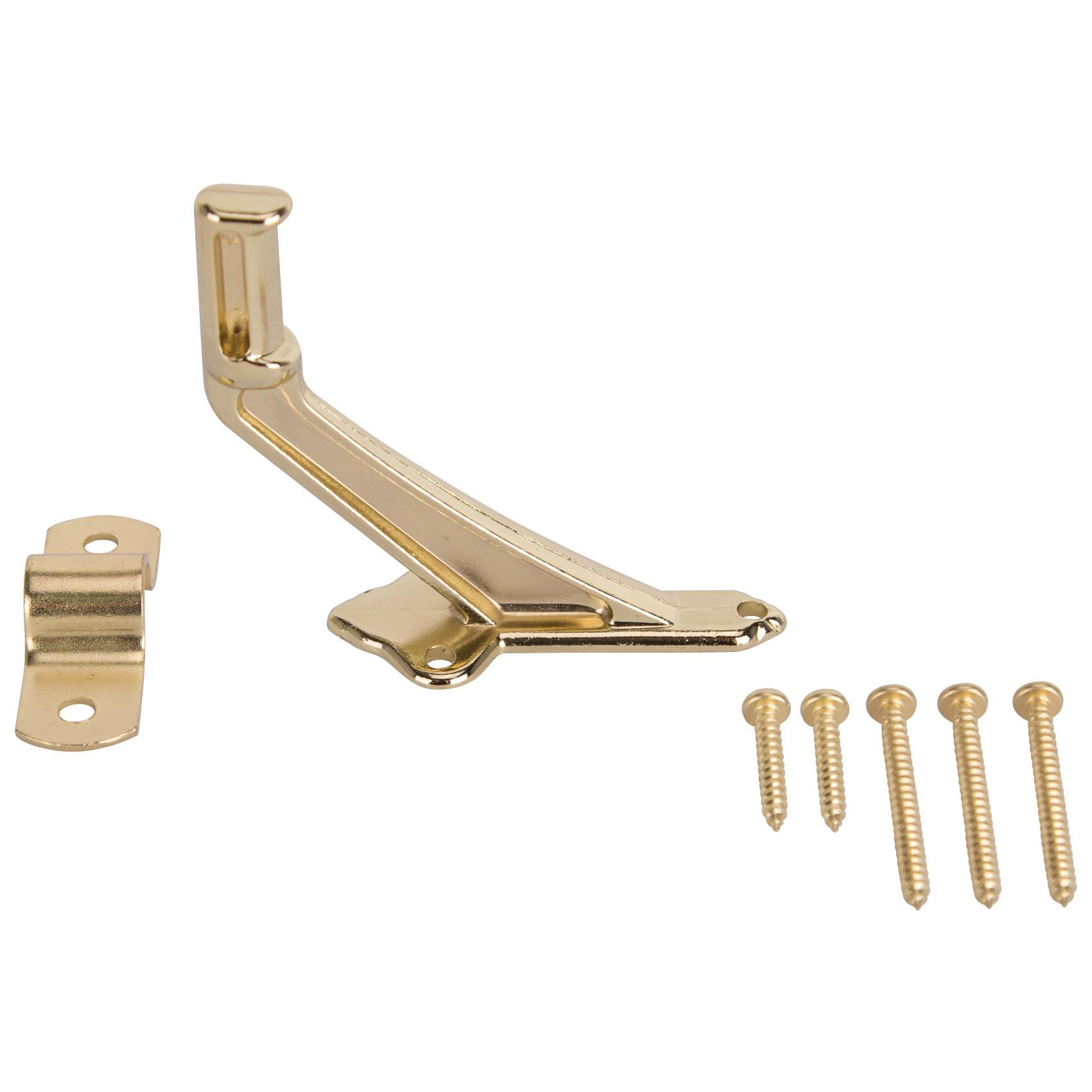 Picture of ProSource 61-Z080 Handrail Bracket, Die-Cast Zinc, Brass