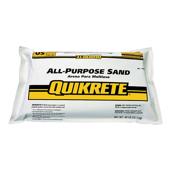 Picture of Quikrete 1152-53 All-Purpose Sand, Solid, 50 lb Package, Bag