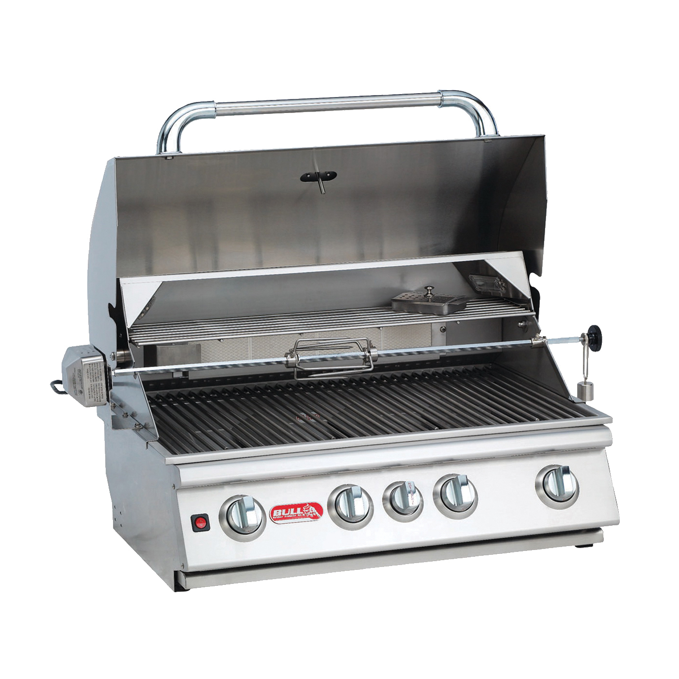Picture of BULL Angus 47628 Gas Grill Head, 75000 Btu BTU, LP, 4 -Burner, 210 sq-in Secondary Cooking Surface