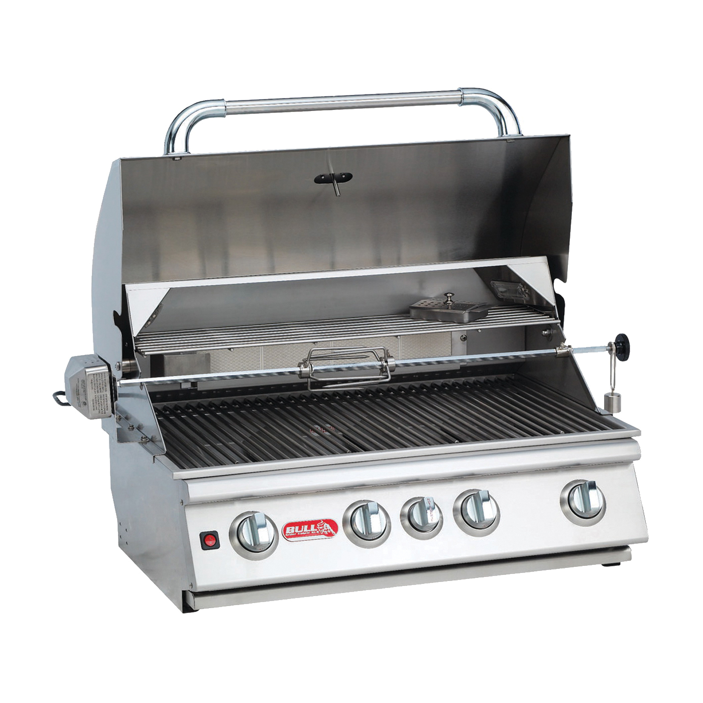 Picture of BULL Angus 47629 Gas Grill Head, 75000 Btu BTU, Natural Gas, 4 -Burner, 210 sq-in Secondary Cooking Surface
