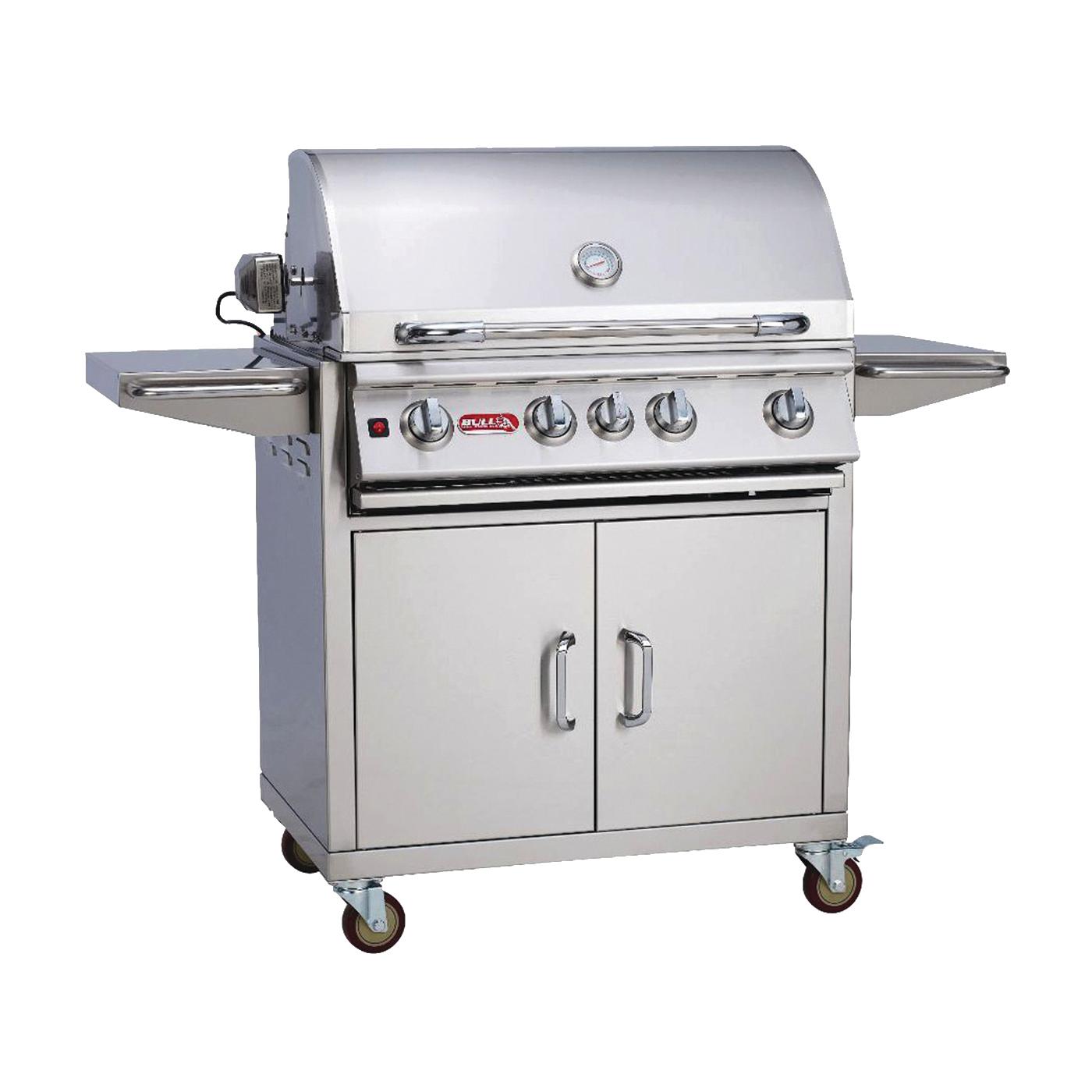 Picture of BULL 45550 Gas Grill Cart Bottom, 48-5/8 in OAL, 56-1/2 in OAW, 25 in OAH, Stainless Steel