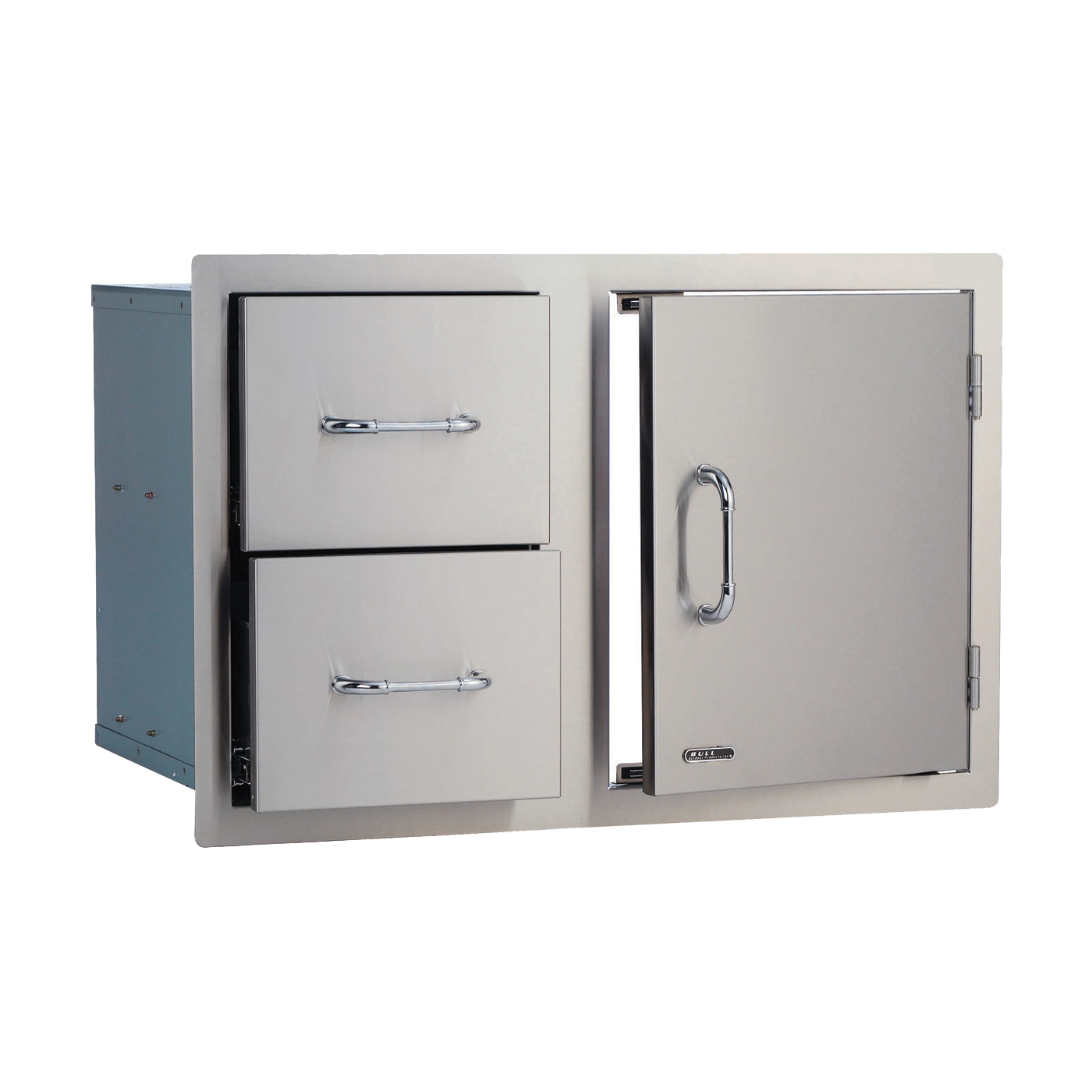 Picture of BULL 25876 Grill Cabinetry, 33 in L, 20-1/2 in W, 22 in H, 2 -Drawer, Stainless Steel, Metallic