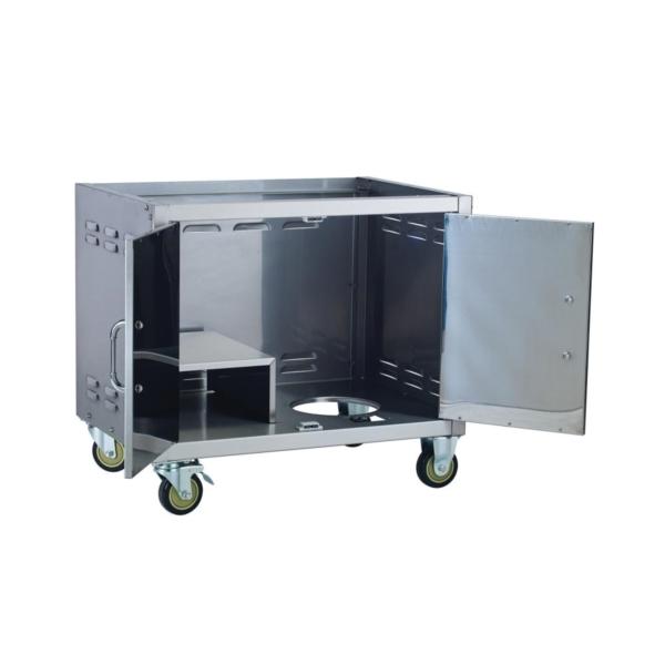 Picture of BULL 55500 Cart Bottom, 30-3/8 in OAL, 23 in OAW, 27-1/4 in OAH, Stainless Steel, Heavy-Duty Caster