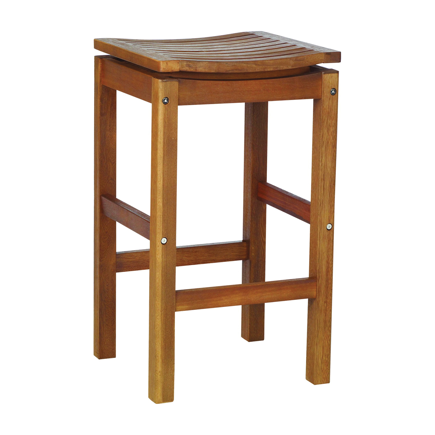 Picture of BULL 50650 Bar Stool, Teakwood Seat, Teakwood Frame