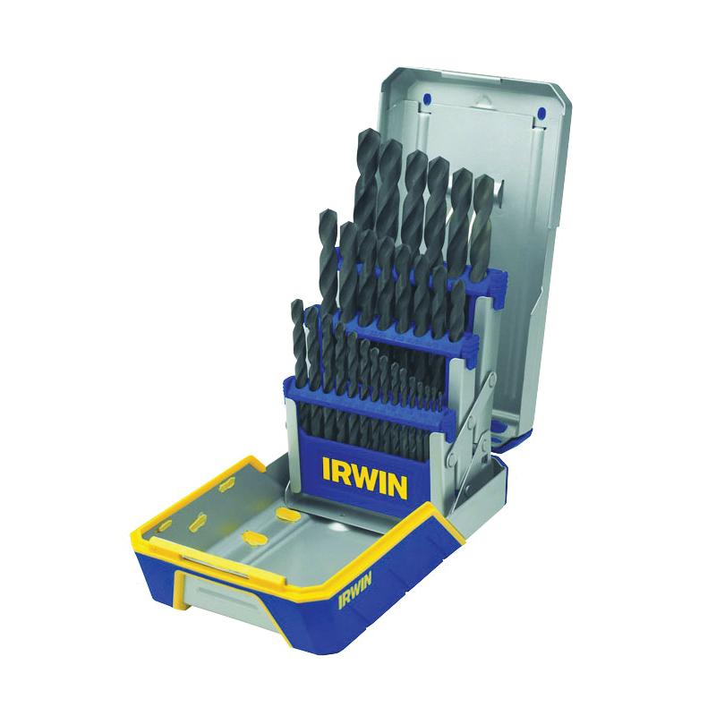 Picture of IRWIN 3018004 Drill Bit Set, Heavy-Duty, 29 -Piece, HSS, Black Oxide