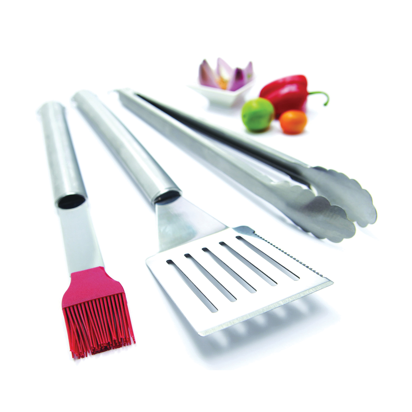 Picture of GrillPro 40035 Tool Set, Stainless Steel, Tubular Handle
