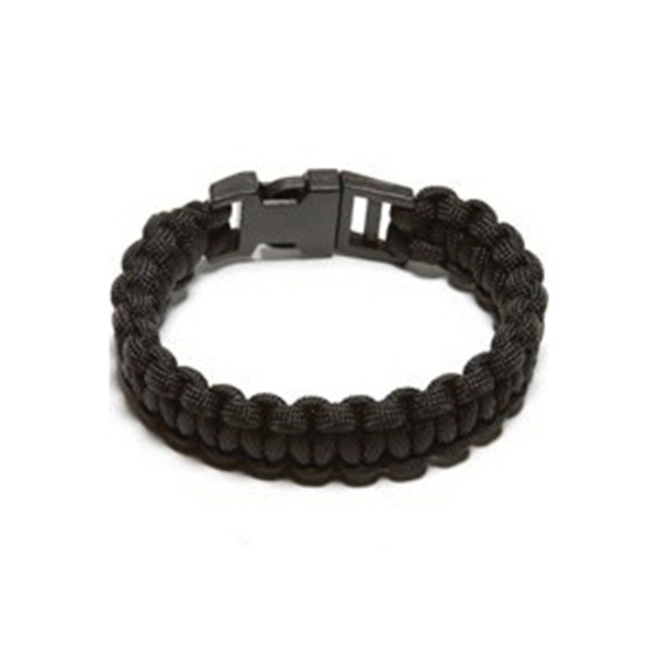 Picture of SecureLine NPCB550BKM Survival Bracelet, M, 550 lb Working Load, Nylon, Black