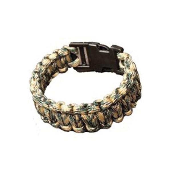 Picture of SecureLine NPCB550CM Survival Bracelet, M, 550 lb Working Load, Nylon, Camouflage