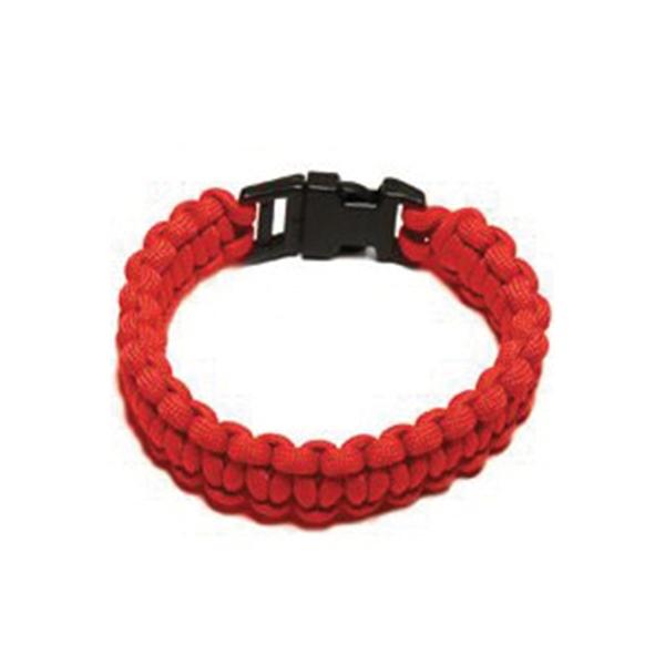 Picture of SecureLine NPCB550RM Survival Bracelet, M, 550 lb Working Load, Nylon, Red
