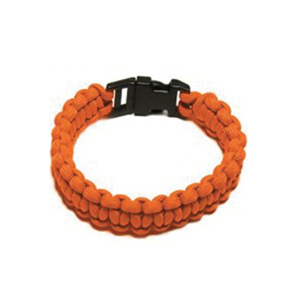 Picture of SecureLine NPCB550TM Survival Bracelet, M, 550 lb Working Load, Nylon, Orange