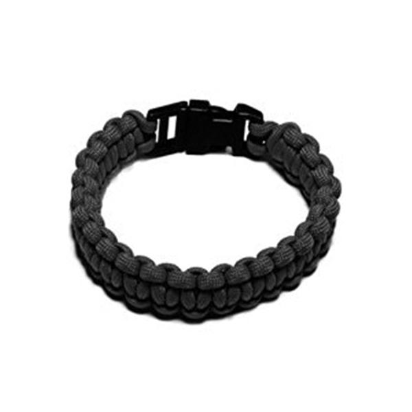 Picture of SecureLine NPCB550BKS Survival Bracelet, S, 550 lb Working Load, Nylon, Black