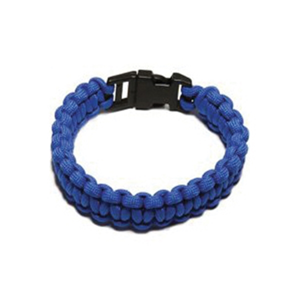 Picture of SecureLine NPCB550BLL Survival Bracelet, L, 550 lb Working Load, Nylon, Blue