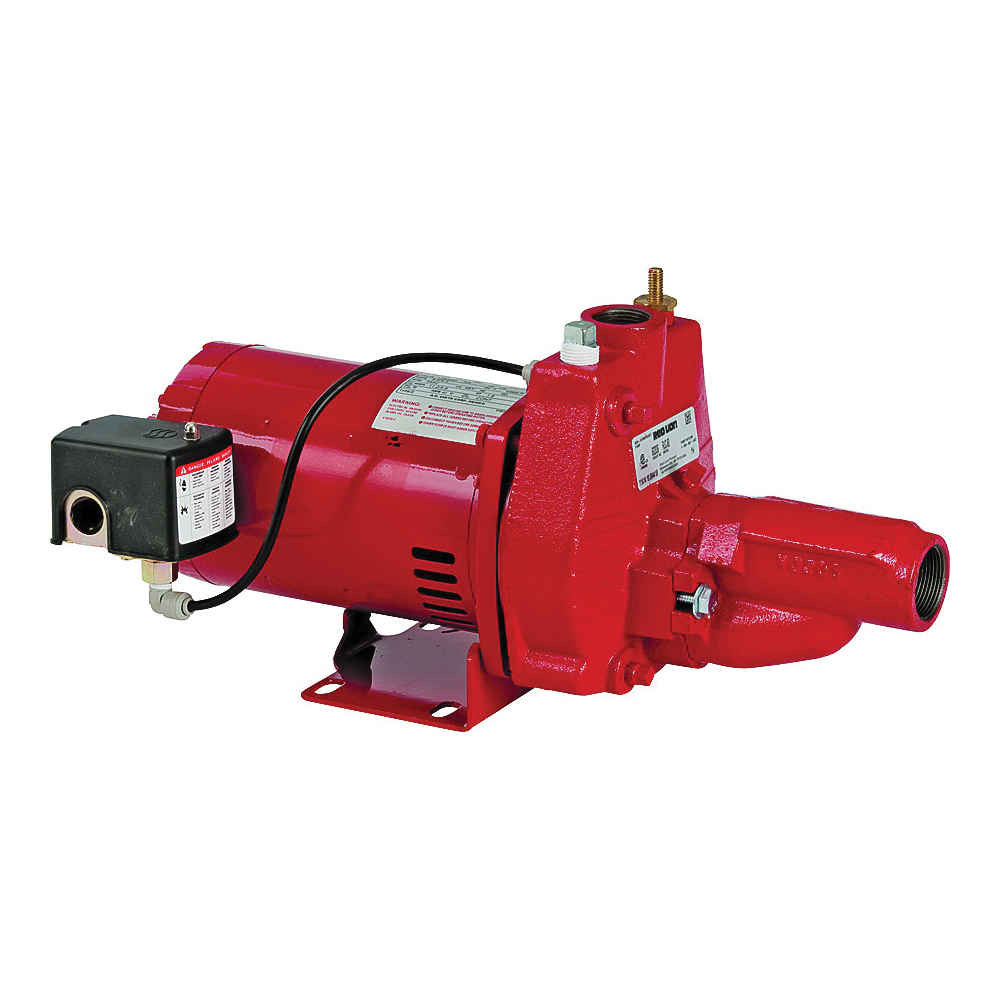 Picture of Red Lion 602136/RJC-50 Jet Pump with Injector, 14.4 A, 115/230 V, 0.5 hp, 90 ft Max Head, 14.2 gpm, Iron