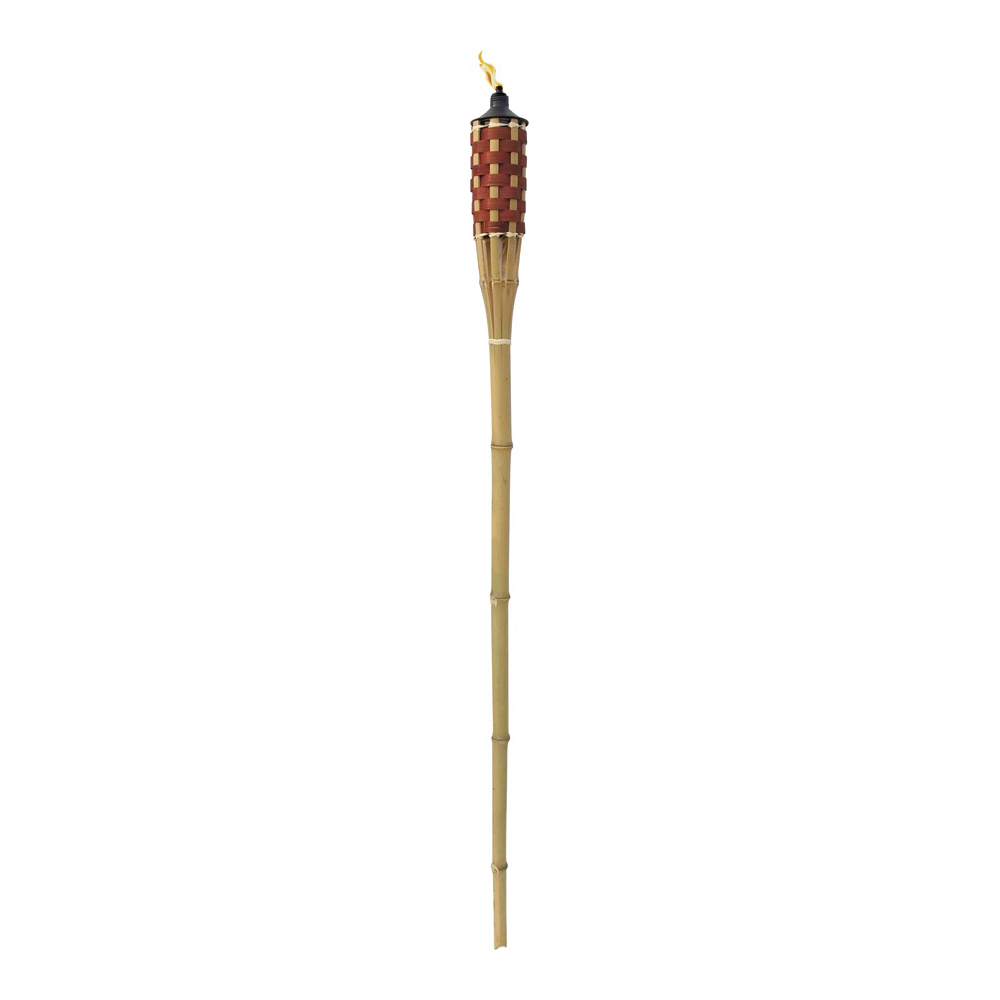 Picture of Seasonal Trends Y2568 Bamboo Torch, 60 in H, Bamboo, Fiberglass, and Metal, Brown, Natural Bamboo Finish