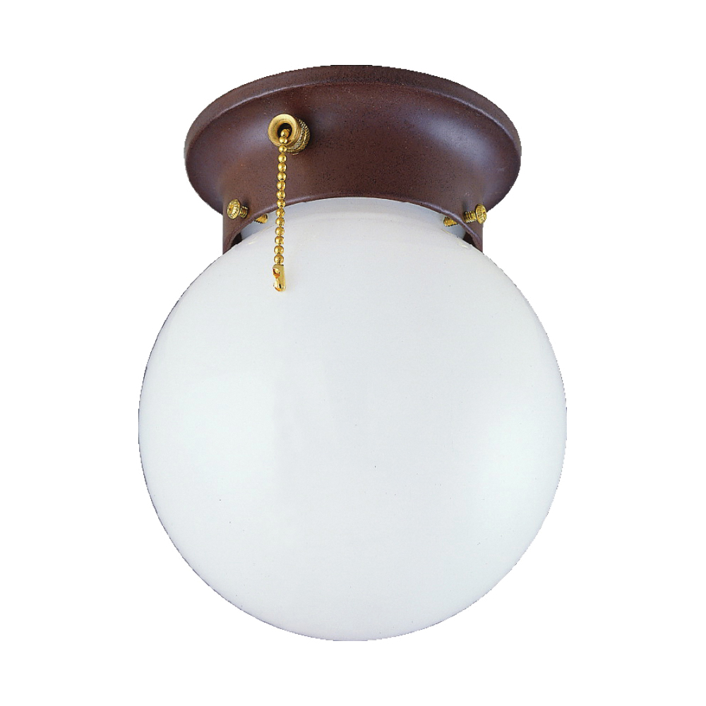 Picture of Boston Harbor F30153375 Ceiling Light Fixture, 60 W, 1-Lamp, CFL Lamp, Sienna Fixture