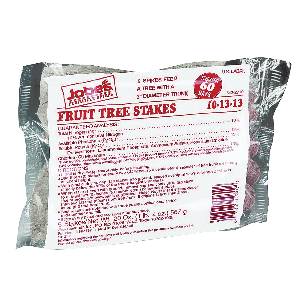 Picture of Jobes 02012 Fertilizer Spike, Solid, Pink/Red, Characteristic, 8.81 oz Package, Bag