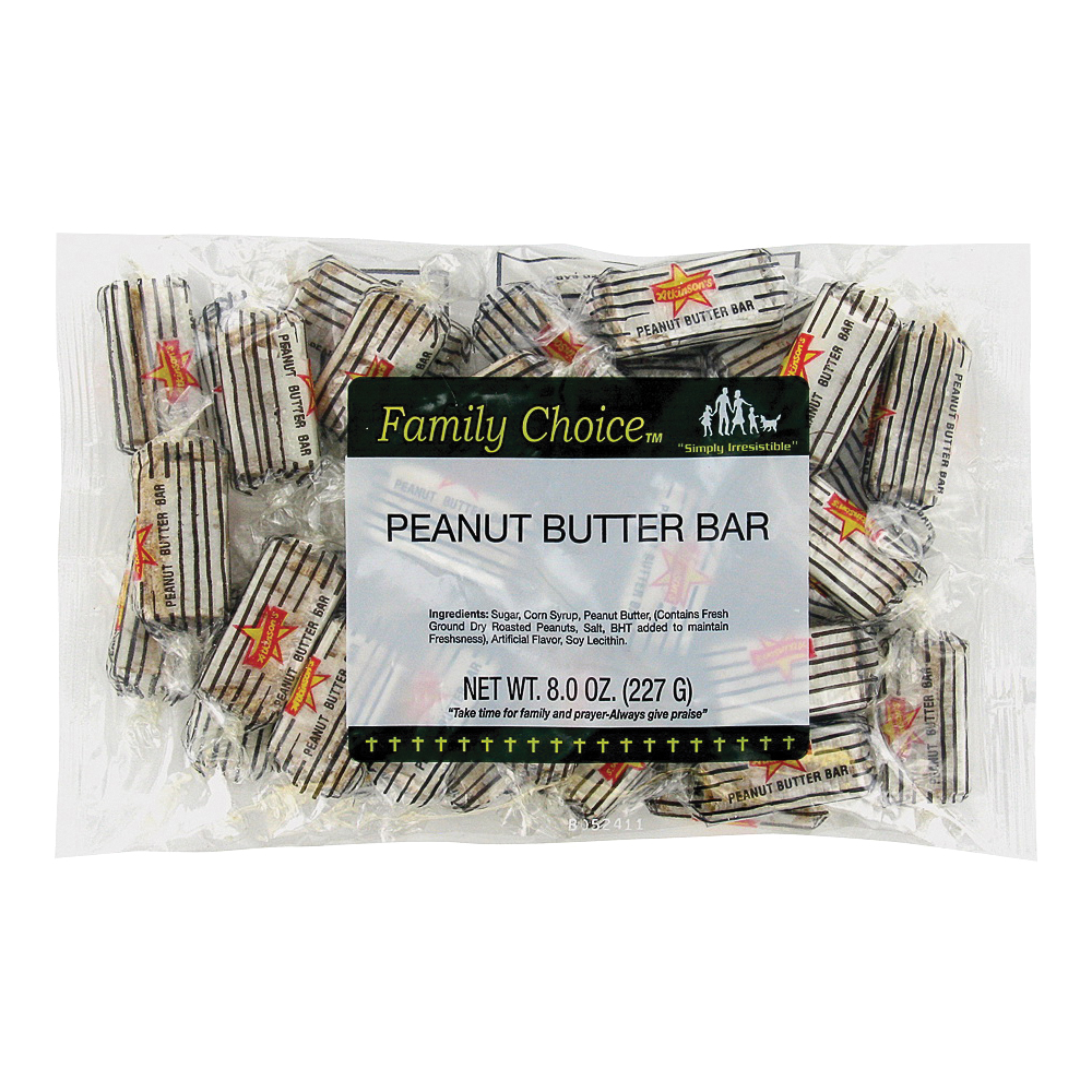 Picture of Family Choice 1099 Peanut Butter Bar, 6 oz Package