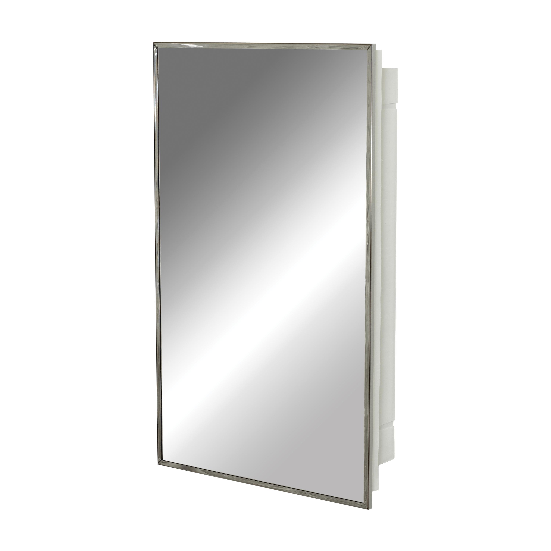 Picture of Zenith E105 Medicine Cabinet, 16.13 in OAW, 4-1/2 in OAD, 26.13 in OAH, Plastic, Stainless Steel, 2-Shelf