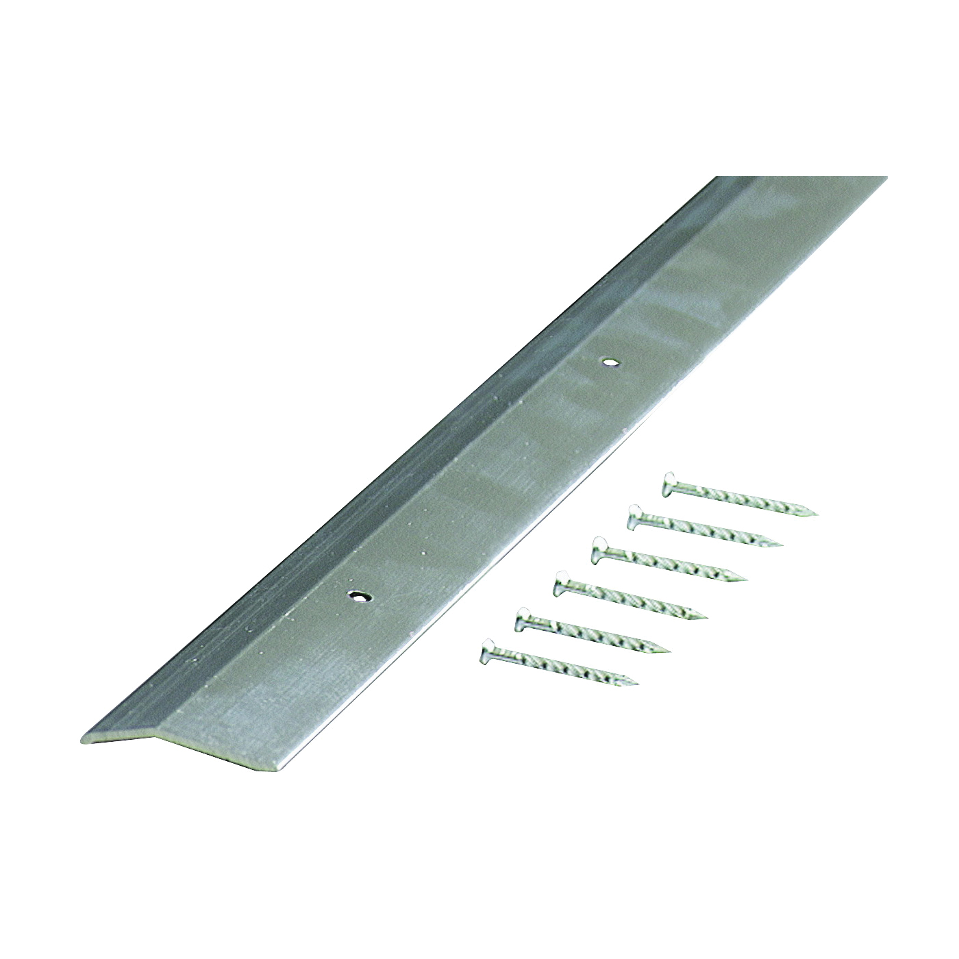 Picture of M-D 66092 Carpet Trim, 36 in L, 1.38 in W, Smooth Surface, Aluminum, Silver