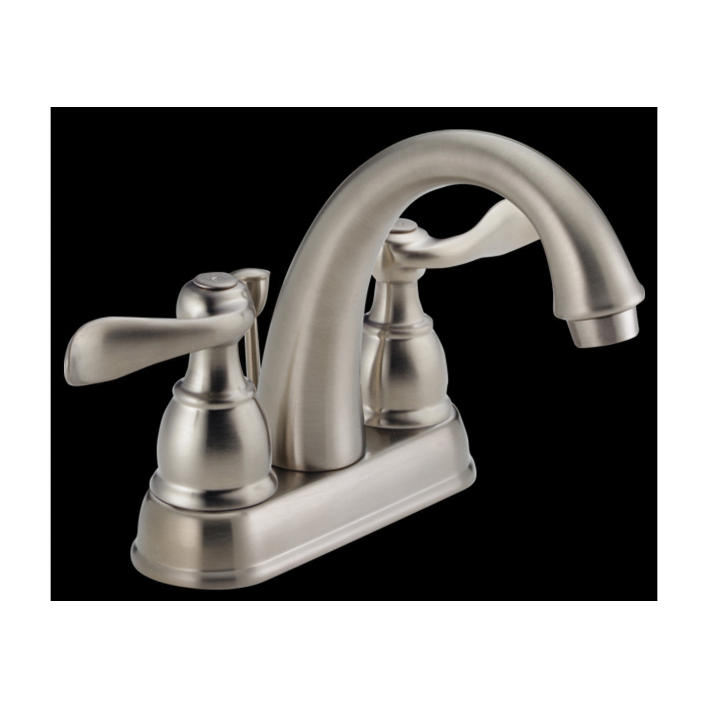 Picture of DELTA Windemere 25996LF-BN-ECO Bathroom Faucet, 1.2 gpm, 2-Faucet Handle, Brushed Nickel, Lever Handle