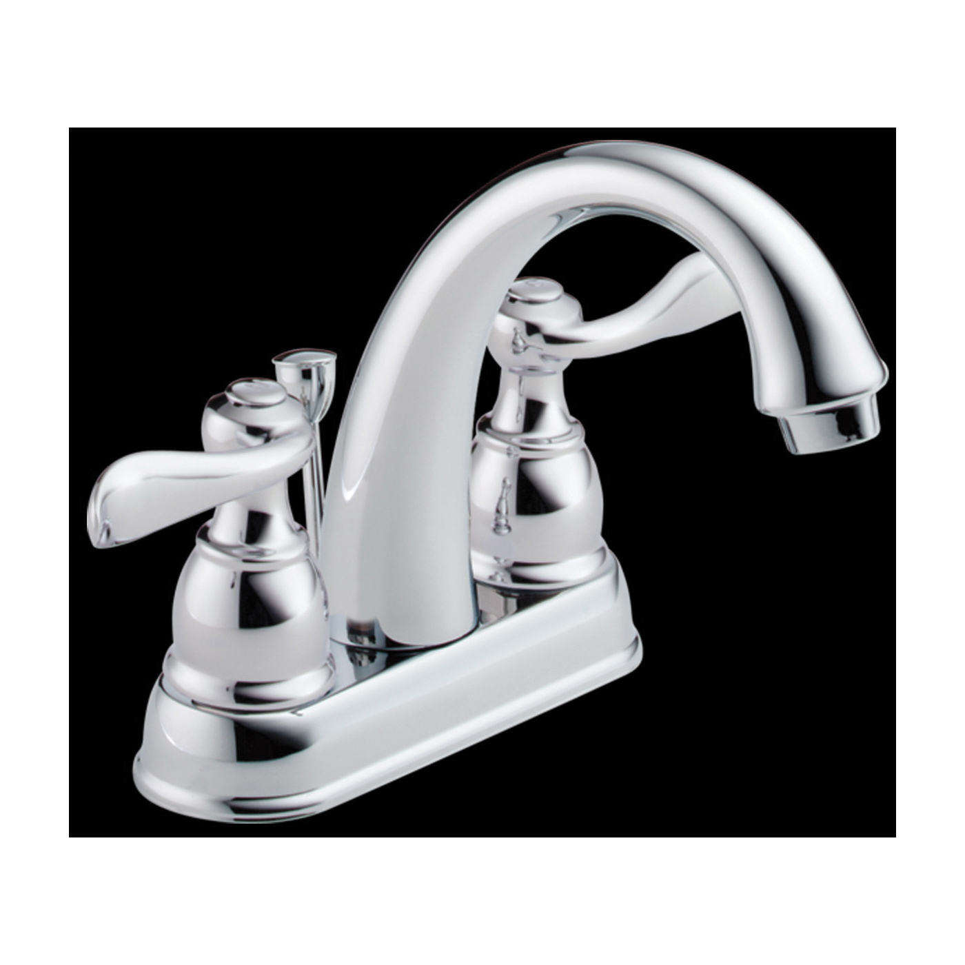 Picture of DELTA Windemere 25996LF-ECO Bathroom Faucet, 1.2 gpm, 2-Faucet Handle, Chrome, Lever Handle, High-Arc Spout