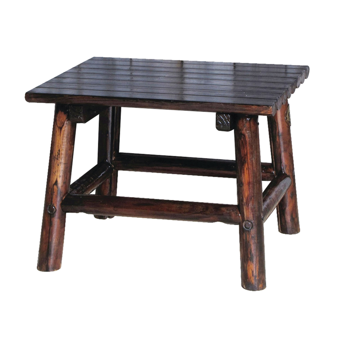 Picture of Leigh Country Traditional TX 93723 Charred Wood End Table, 20 in OAW, 18-1/2 in OAD, 24 in OAH, Rectangular