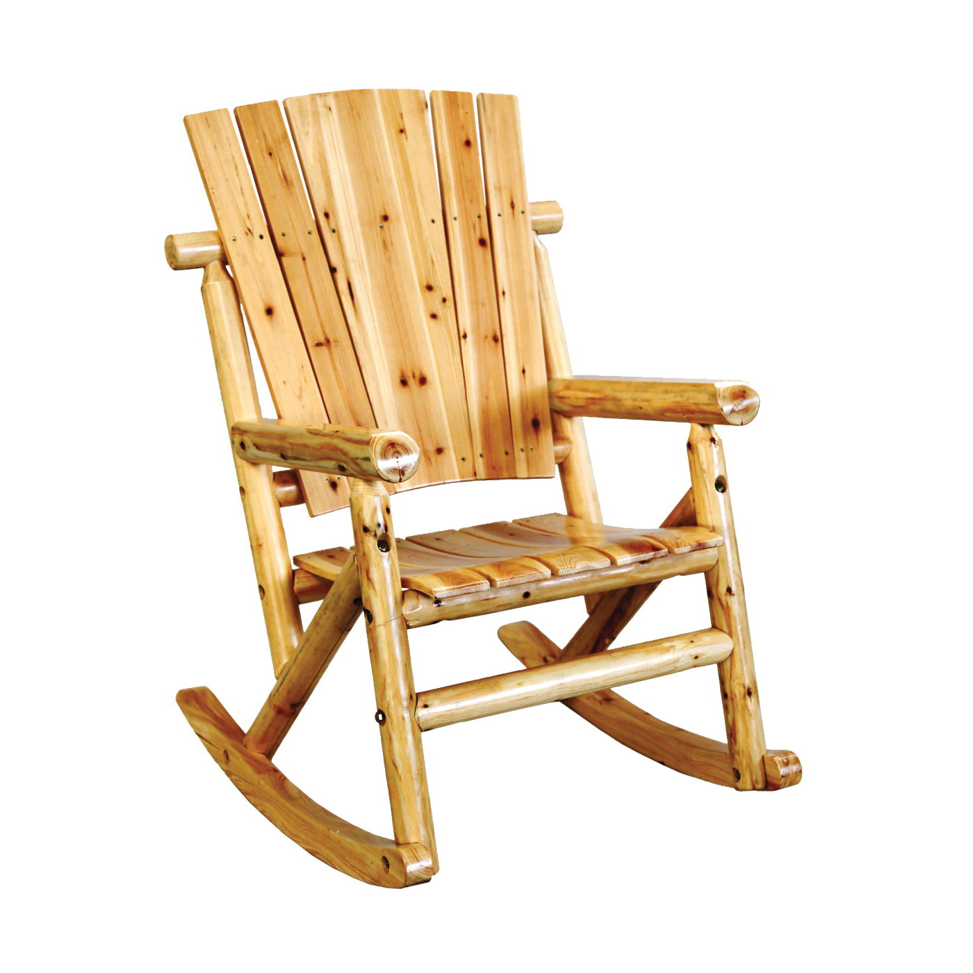 Picture of DURAFLAME TX 95100 Aspen Single Rocking Chair, 29-1/2 in OAW, 44-1/2 in OAD, 35.43 in OAH, Wood