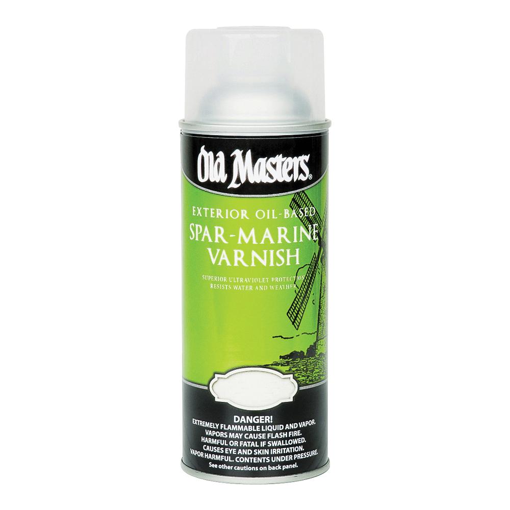 Picture of Old Masters 92410 Spar Marine Varnish, Gloss, Liquid, 13 oz, Aerosol Can