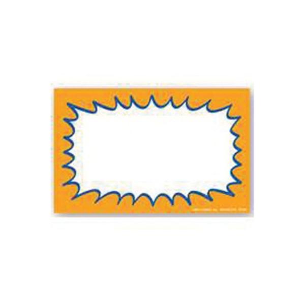Picture of Centurion CRG338 Laser Starburst Sign, Orange Background, 5-1/2 in W x 3-1/2 in H Dimensions