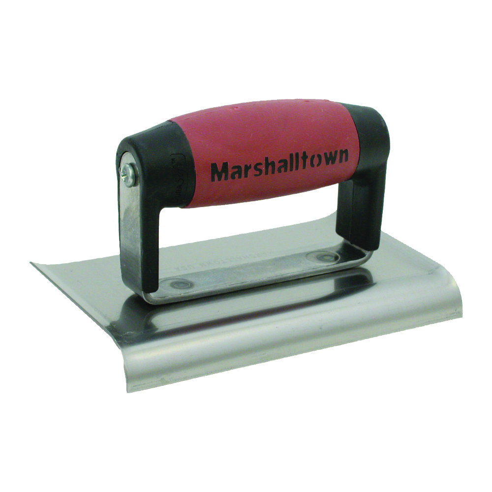 Picture of Marshalltown DuraSoft 136D Hand Edger, 6 in L Blade, 3 in W Blade, HCS Blade, 1/2 in Lip, 3/8 in Lip Radius