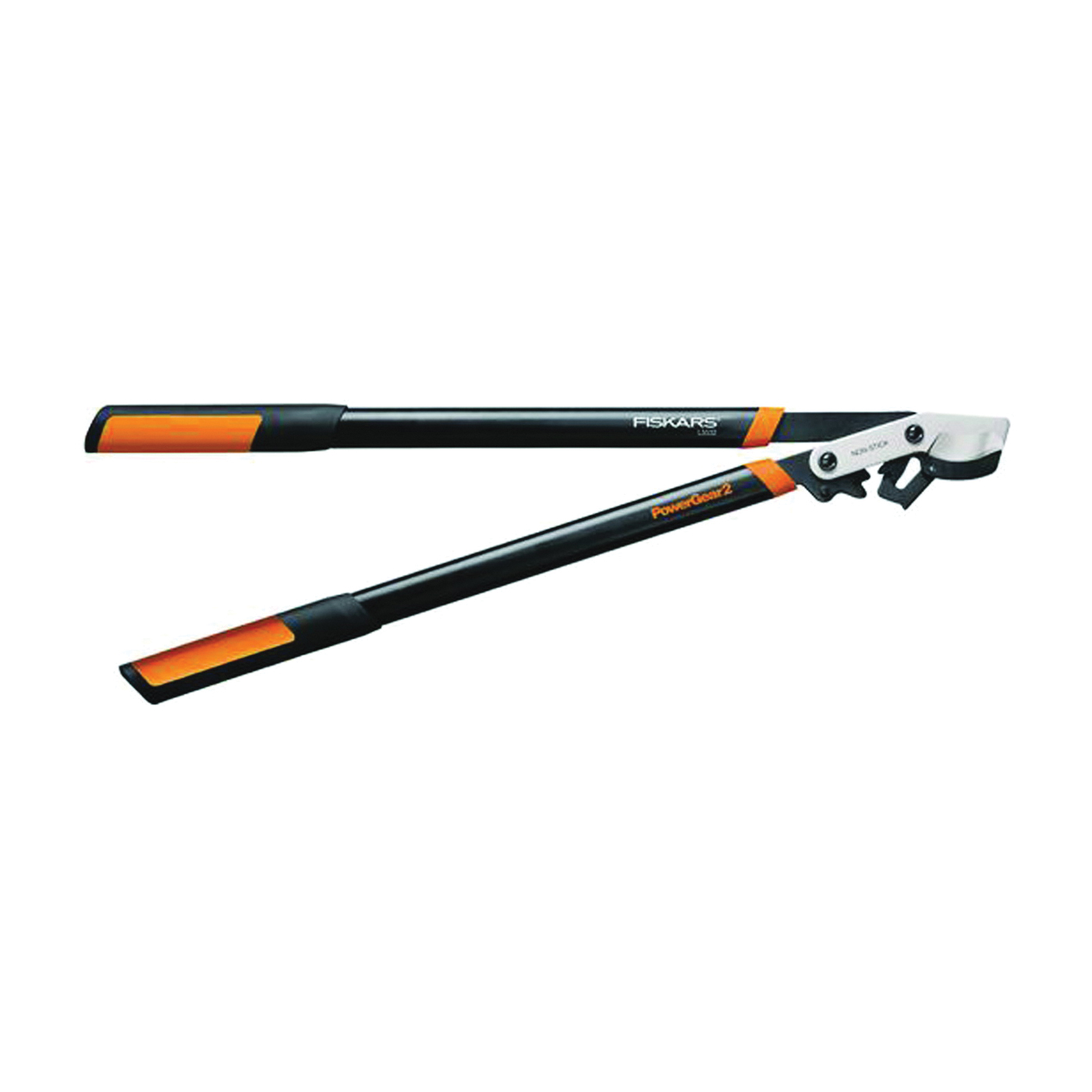 Picture of FISKARS 394801-1001 Power Gear Lopper, 2 in Cutting Capacity, Bypass Blade, Steel Blade, Steel Handle, Round Handle