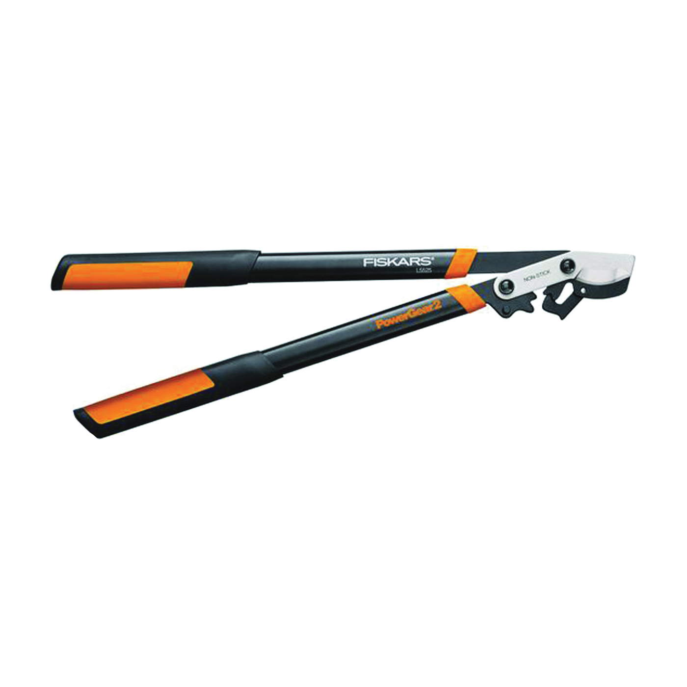 Picture of FISKARS L5525 Power Gear Lopper, 1-3/4 in Cutting Capacity, Bypass Blade, Steel Blade, Steel Handle, Round Handle