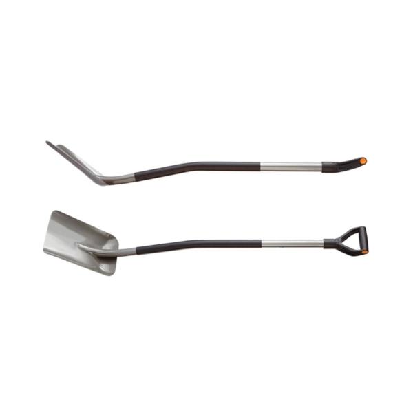 Picture of FISKARS 332400-1001 Digging Shovel, Boron Steel Blade, Steel Handle, D-Shaped Handle