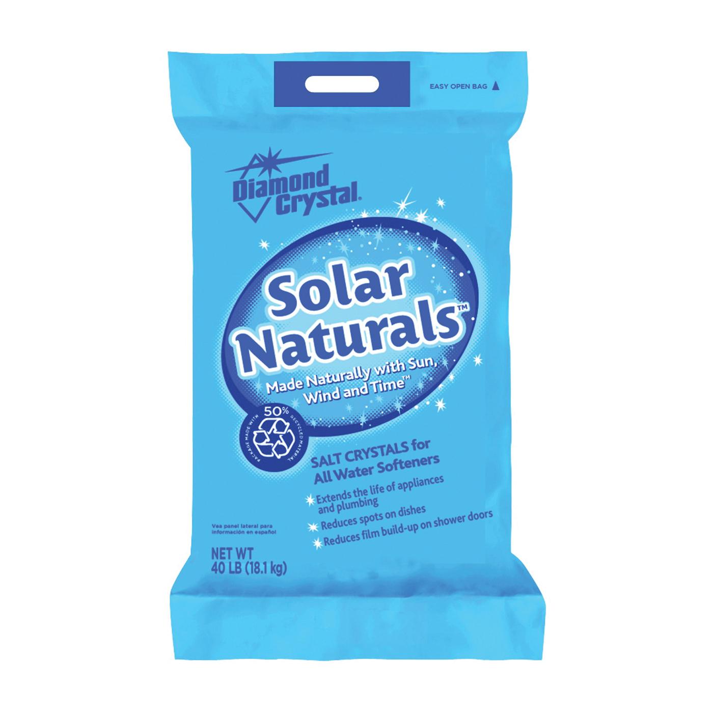 Picture of Cargill Diamond Crystal Solar Naturals 100012411 Salt Pellets, 40 lb Package, Bag, Crystalline Solid, Halogen
