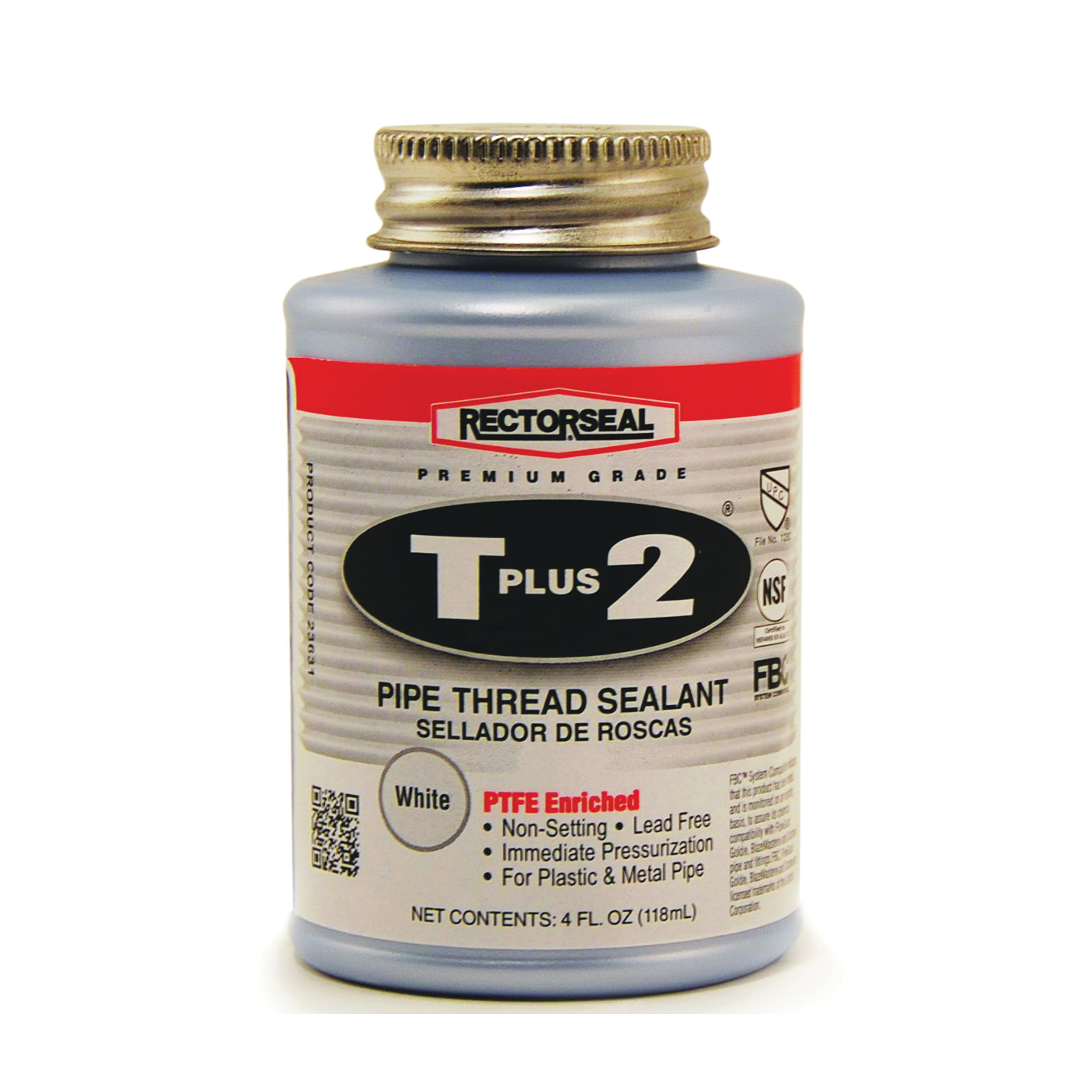 Picture of RECTORSEAL T Plus 2 23631 Thread Sealant, 0.25 pt, Can, Paste, White