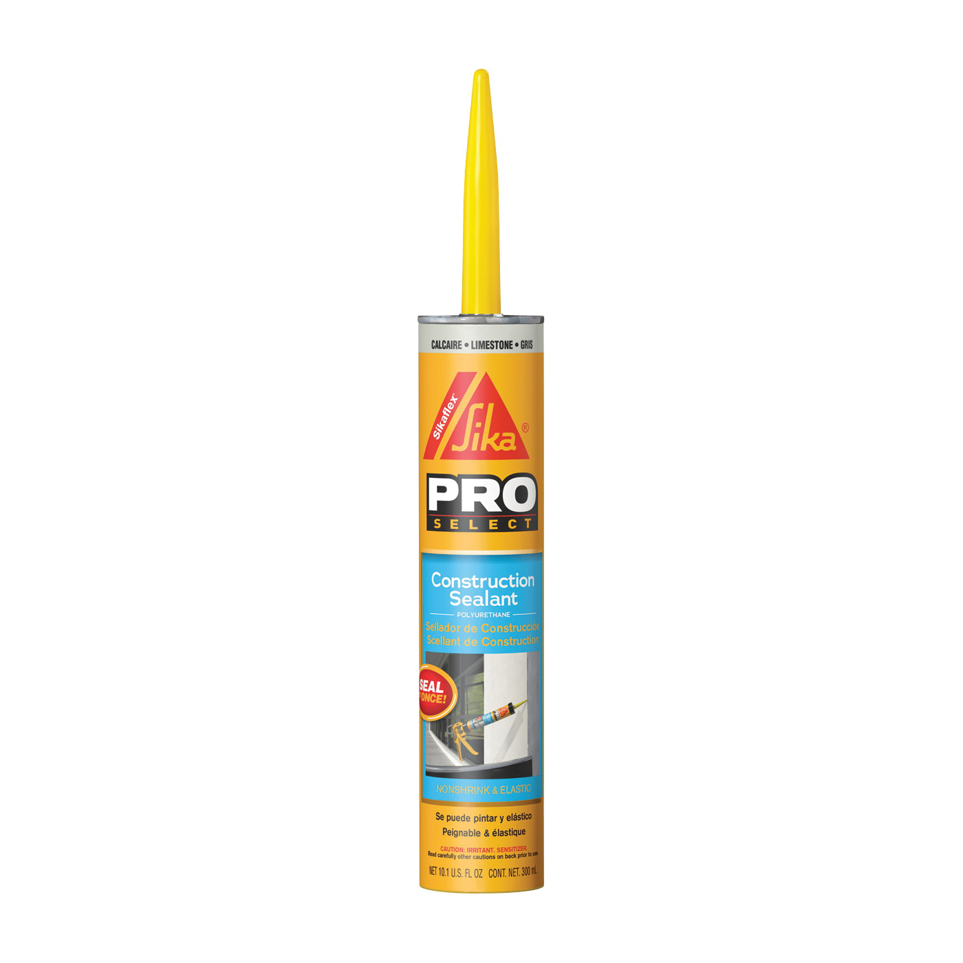 Picture of Sikaflex 90959 Construction Sealant, Limestone, 7 Days Curing, 40 to 100 deg F, 10.1 oz Package, Cartridge