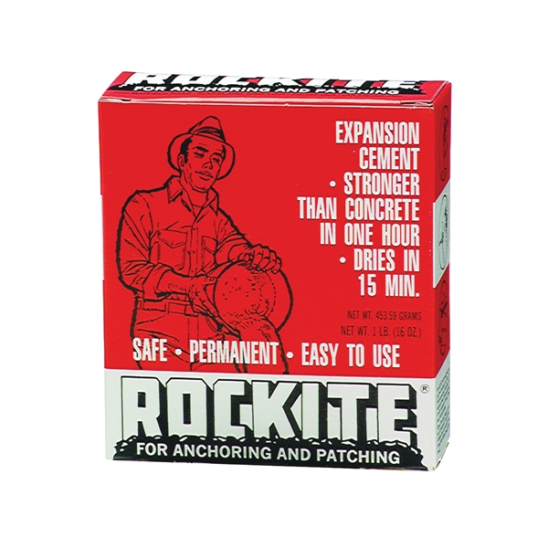 Picture of Rockite 10001 Expansion Cement, Powder, White, 1 lb Package, Box