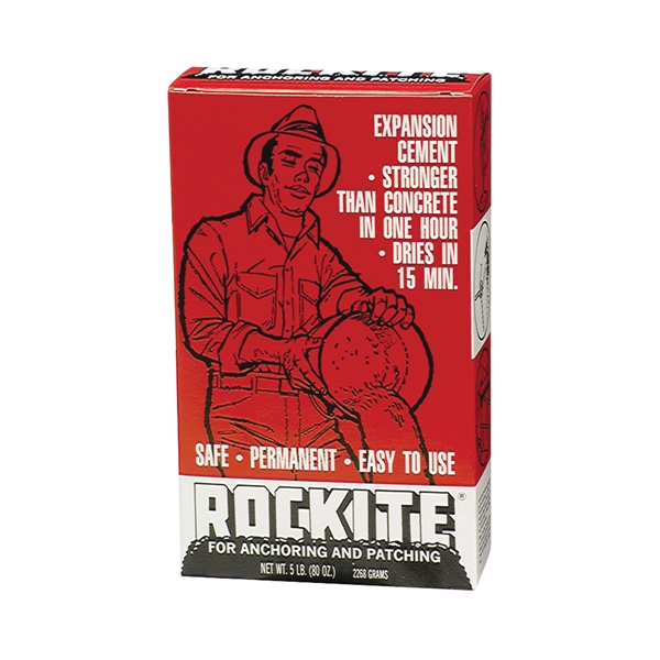 Picture of Rockite 10005 Expansion Cement, Powder, White, 1 hr Curing, 5 lb Package, Box