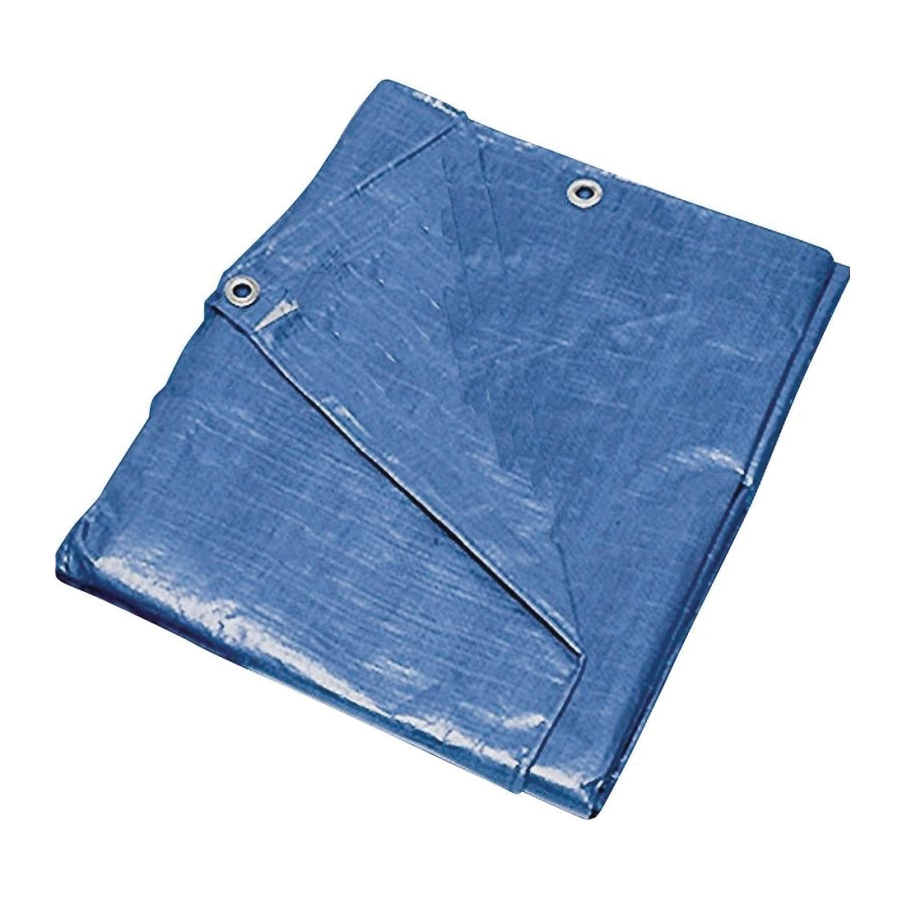 Picture of ProSource T1216BB90 Tarpaulin, 16 ft L, 12 ft W, 5 mil Thick, Polyethylene, Blue