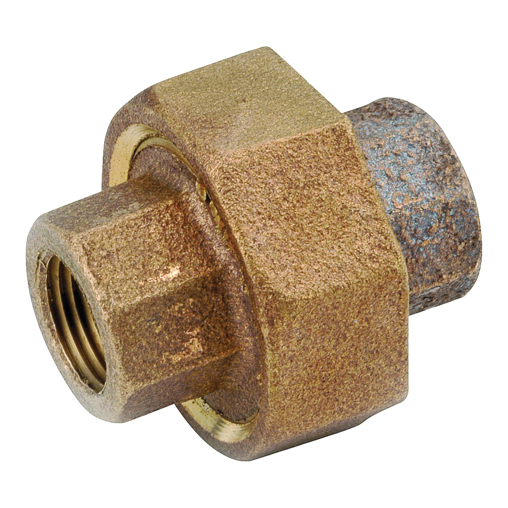 Picture of Anderson Metals 738104-04 Union, 1/4 in, FIPT, Red Brass, 200 psi Pressure