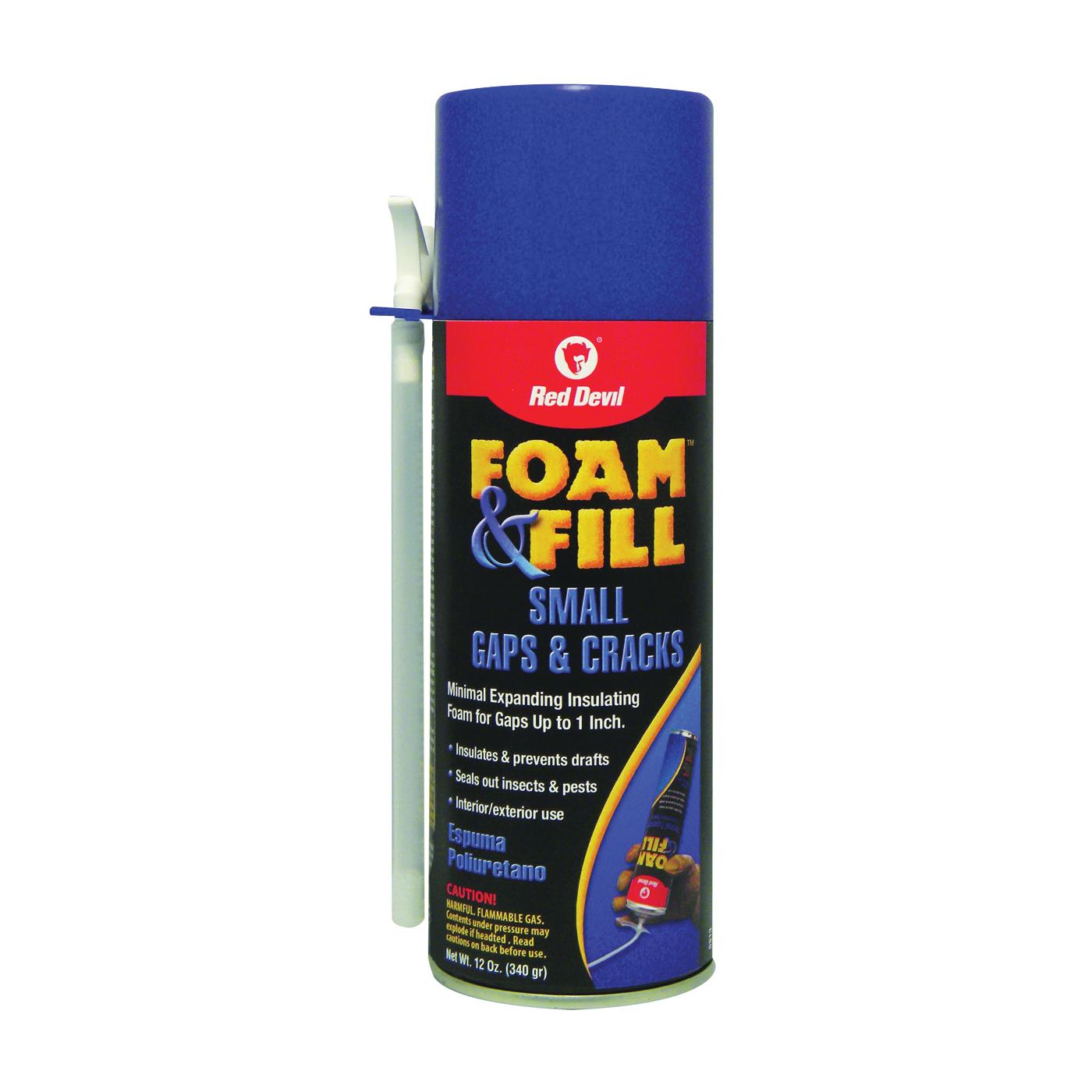 Picture of Red Devil Foam & Fill 0913 Foam Sealant, Champagne, 12 oz Package, Aerosol Can