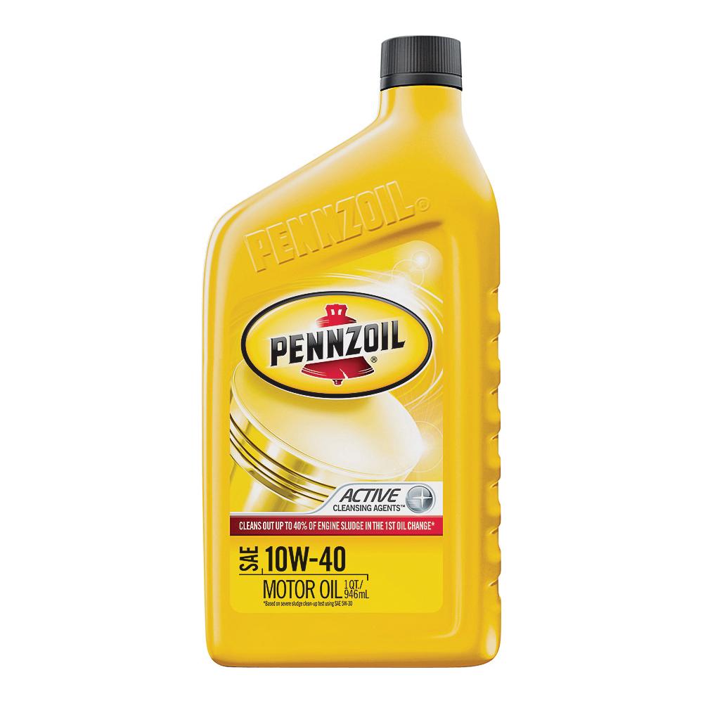 Picture of Pennzoil 550035160/3653 Motor Oil, 10W-40, 1 qt Package, Bottle