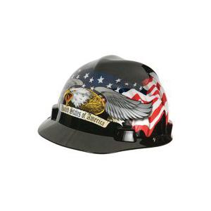 Picture of MSA 10124207 Hard Hat, Fas-Trac Suspension, Polycarbonate Shell, Black, Class: E